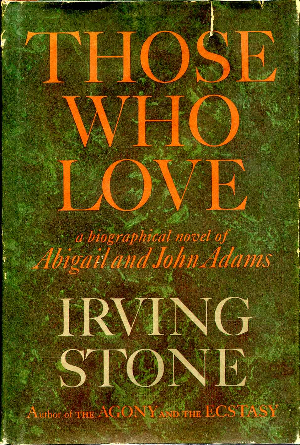 Image result for those who love irving stone book cover