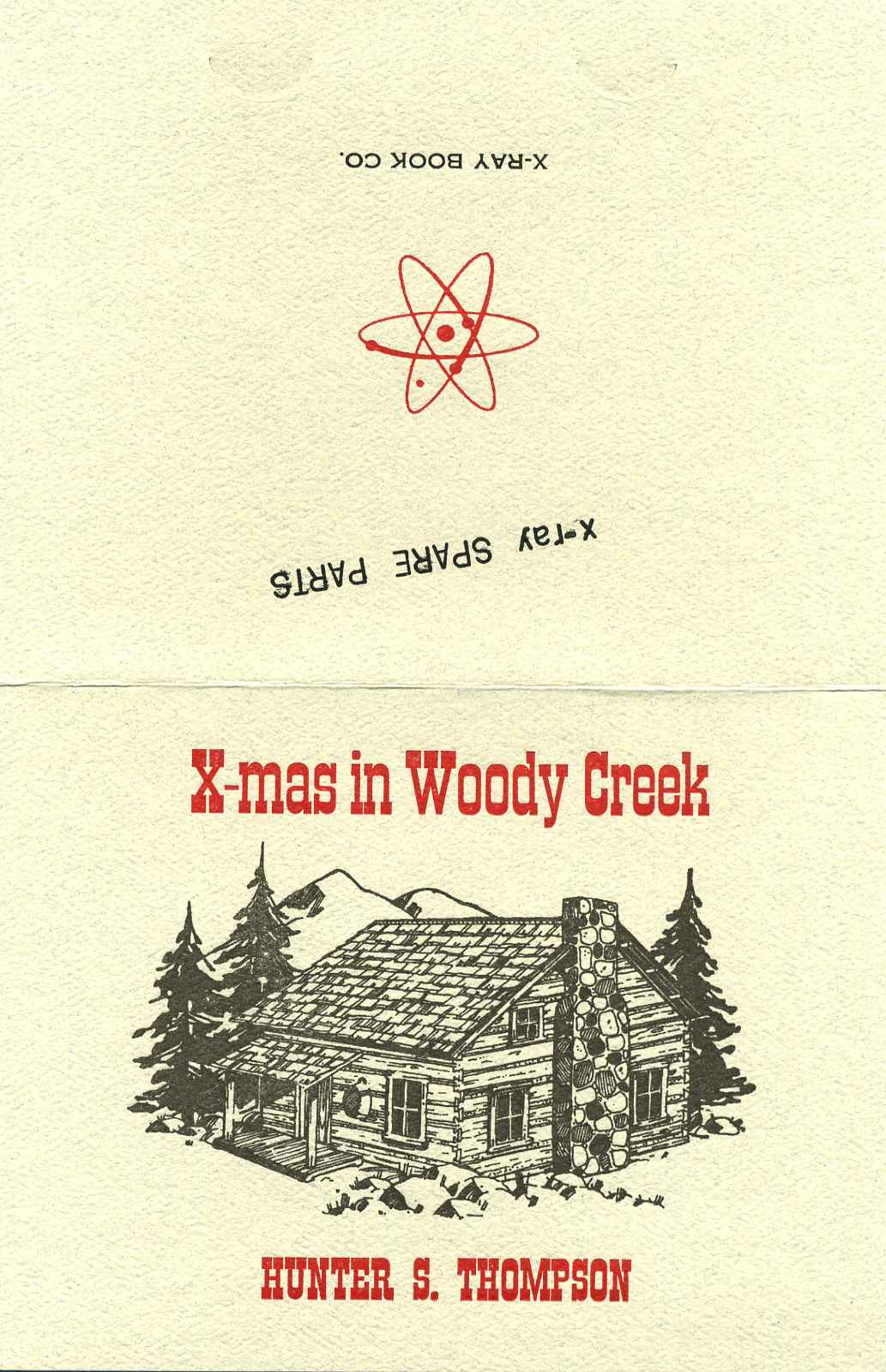 x mas in woody creek christmas card containing an original printed
