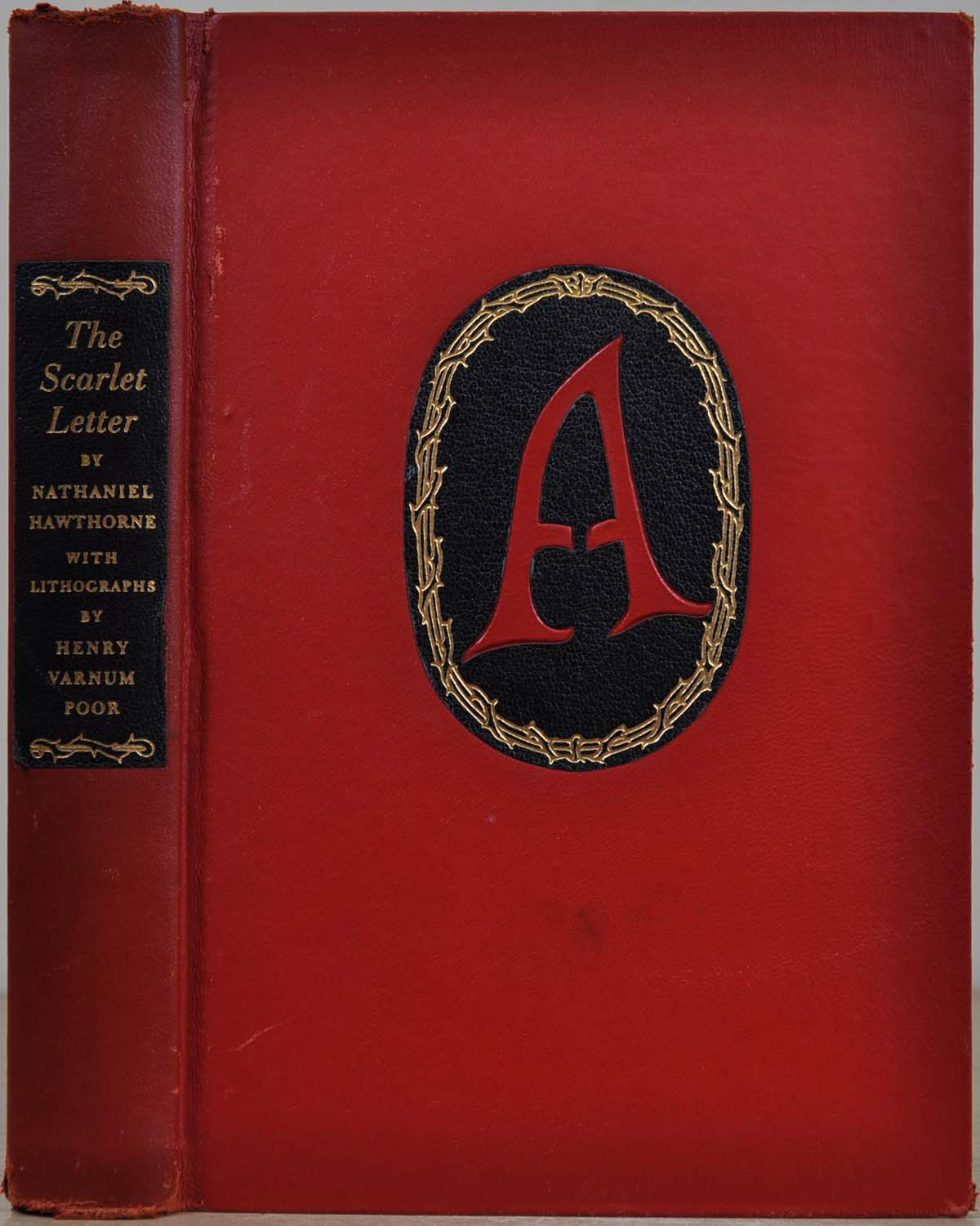 The Scarlet Letter Book Cover.The Scarlet Letter Limited Edition Signed By Henry Varnum Poor By Nathaniel Hawthorne Henry Varnum Poor On Kurt Gippert Bookseller