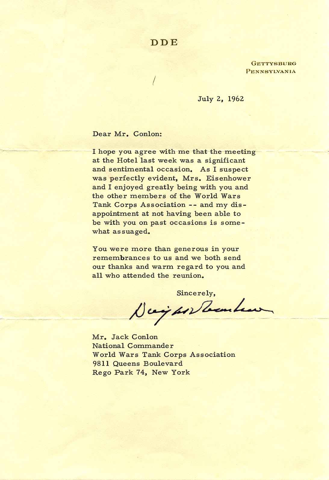 Typed letter signed by dwight d eisenhower dwight d eisenhower typed letter thecheapjerseys Choice Image