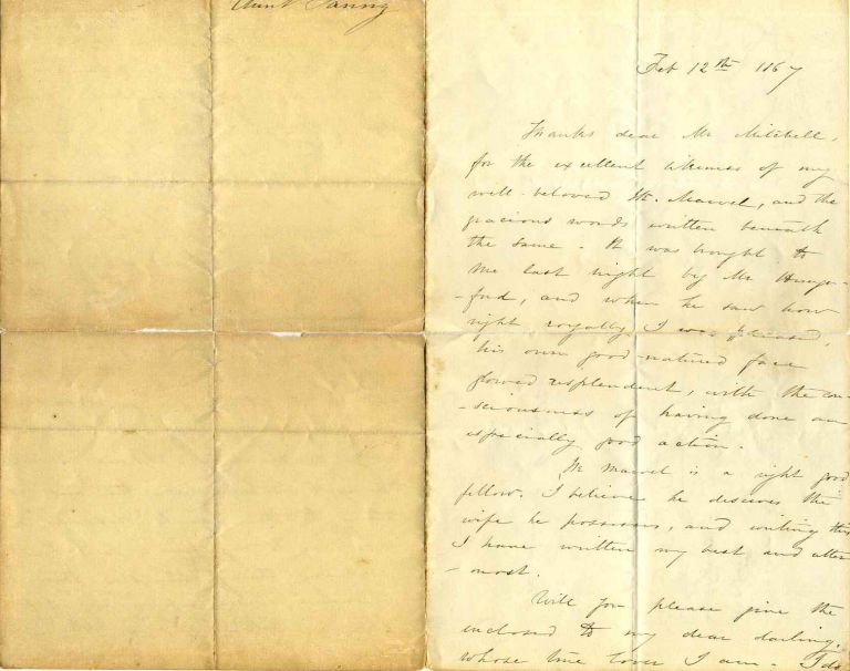 "Letter handwritten and signed by Frances Elizabeth Barrow ""Aunt Fanny"" (1822-1894). Frances Elizabeth Barrow, Aunt Fanny."