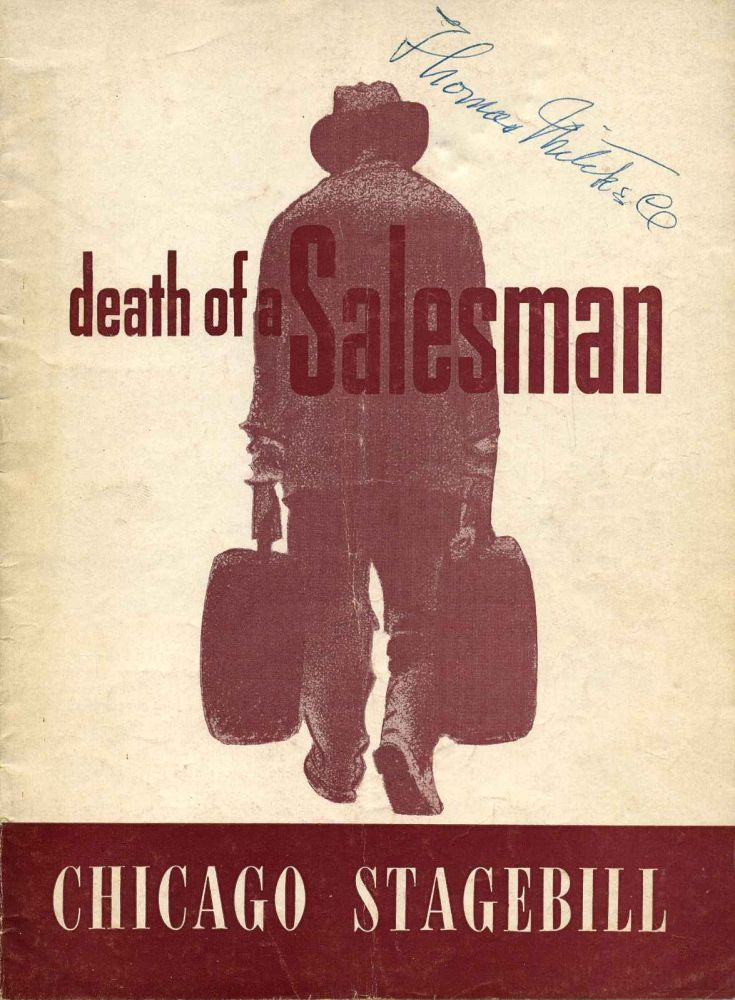 Erlanger Theatre Program for Death of a Salesman signed by Arthur Miller and Thomas Mitchell (1892-1962). Arthur Miller, Thomas Mitchell.