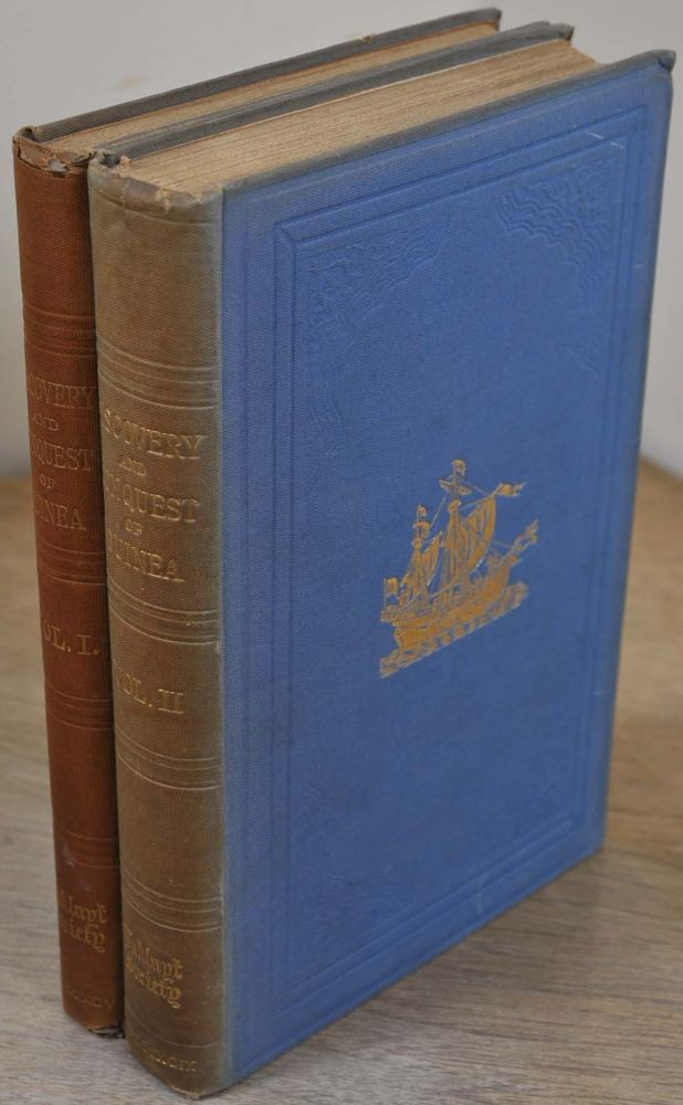 THE CHRONICLE OF DISCOVERY AND CONQUEST OF GUINEA. Written by Gomes Eannes de Azurara; now first done into English by Charles Raymond Bazley and Edgar Prestage. Two Volume Set. Gomes Eannes de Azurara, Charles Raymond Beazley.