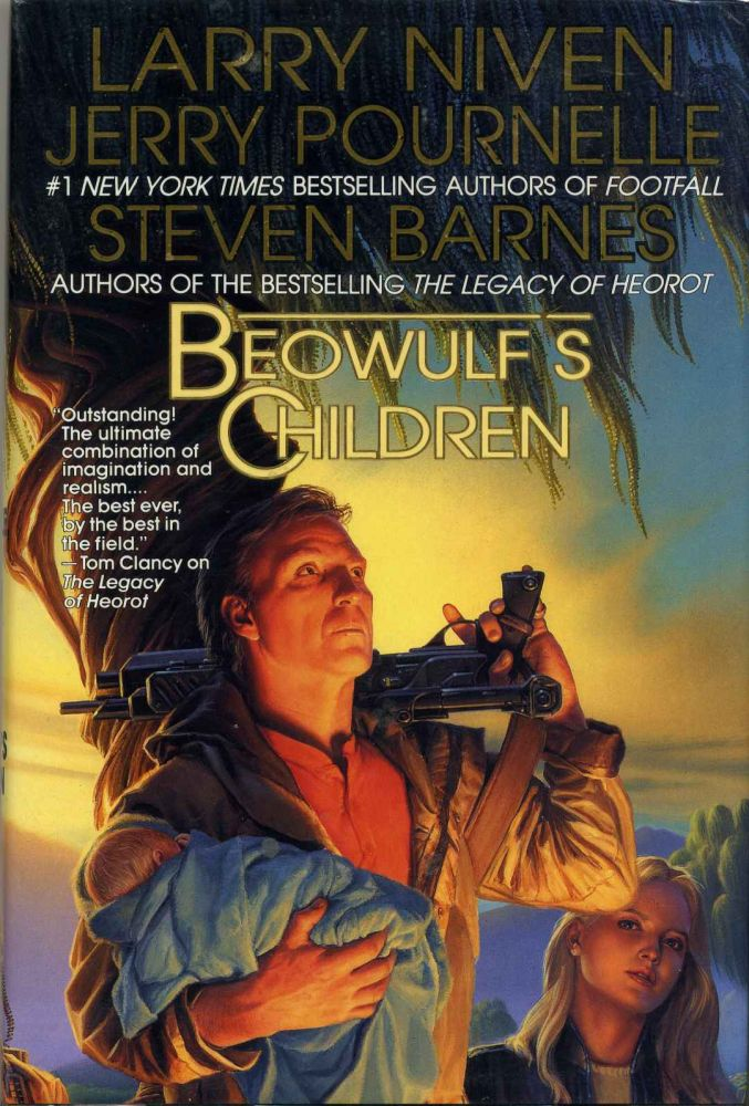 Beowulf's Children. Signed by Larry Niven. Larry Niven, Jerry Pournelle, Steven Barnes.