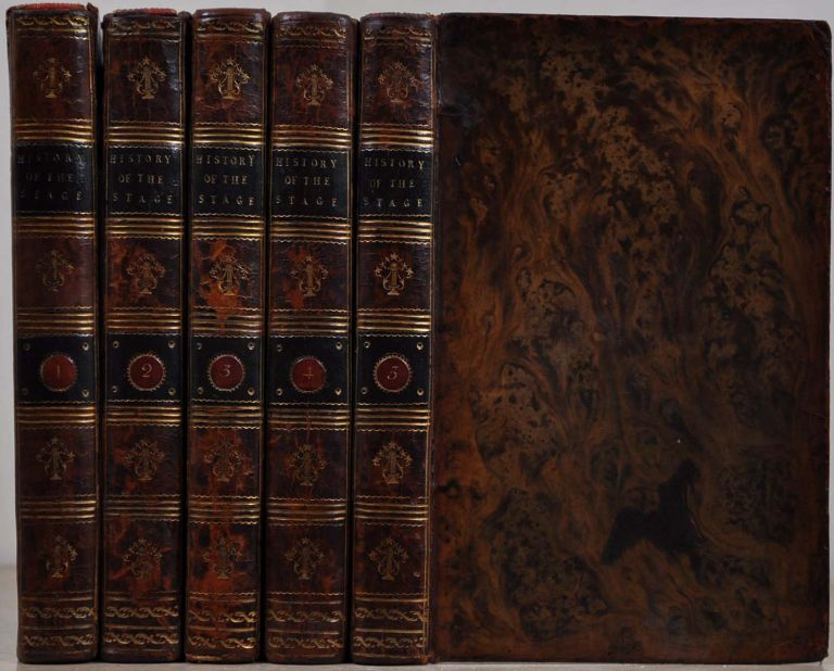A COMPLETE HISTORY OF THE ENGLISH STAGE. Five volume set. Charles Dibdin.