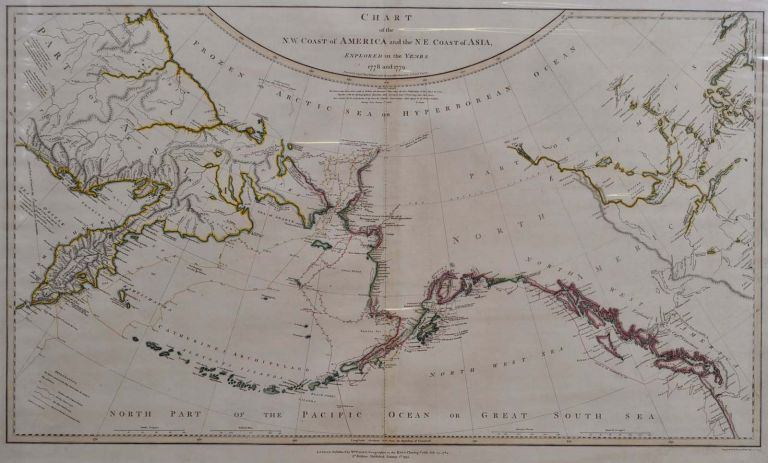 CHART OF THE N.W. COAST OF AMERICA AND THE N.E. COAST OF ASIA, EXPLORED IN THE YEARS 1778 AND 1779. Prepared by Lieutenant Henry Roberts, under the immediate Inspection of Captain Cook. William Faden, Henry Roberts.