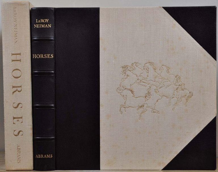 HORSES. Deluxe leatherbound limited edition signed by Leroy Neiman. Leroy Neiman.