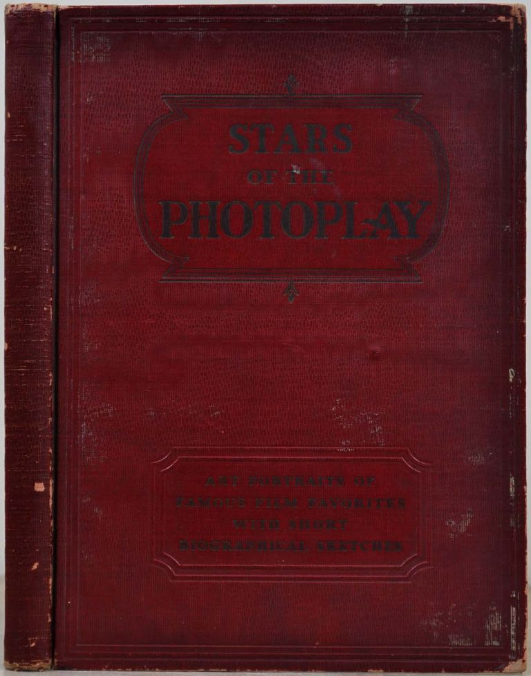 STARS OF THE PHOTOPLAY. A book signed by 124 movie stars on their photographic illustrations. Greta Garbo, Laurel and Hardy, Charlie Chaplin, Gary Cooper, Thelma Todd, Eric von Stroheim, William Powell, Mary Pickford, Will Rogers, Tom Mix, Harry Carey Sr., Victor McLaglen, Laurel, Hardy.
