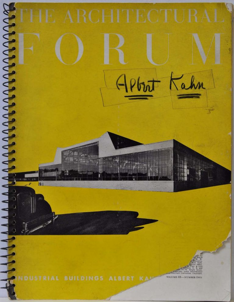 ARCHITECTURAL FORUM. Volume 69, Number Two. August 1938. Signed and inscribed by Albert Kahn. Albert Kahn.