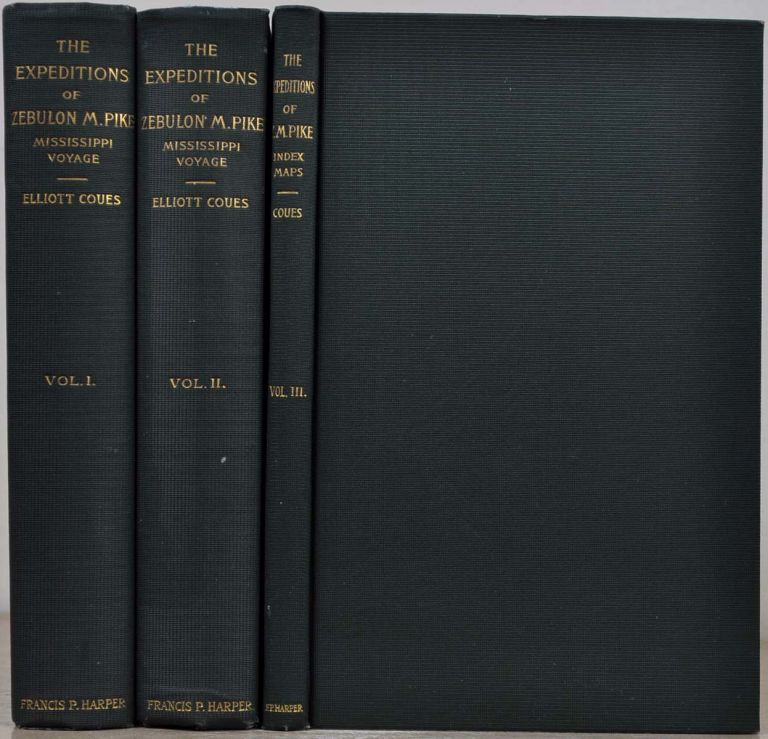 THE EXPEDITIONS OF ZEBULON MONTGOMERY PIKE, to Headwaters of the Mississippi River ... during the Years 1805-6-7. New edition. Three volume set. Limited edition. Elliott Coues, Zebulon Montgomery Pike.
