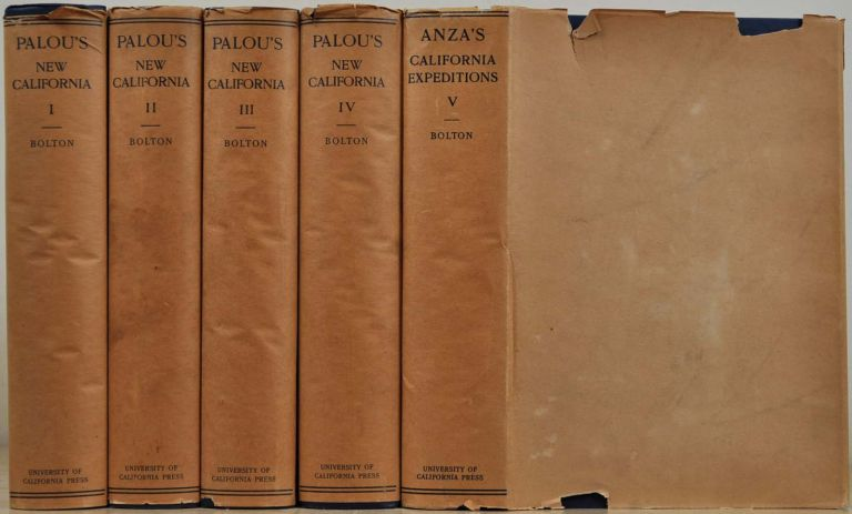 HISTORICAL MEMOIRS OF NEW CALIFORNIA [with] ANZA'S CALIFORNIA EXPEDITIONS. CORRESPONDENCE. Five volume set. Francisco Palou, Herbert Eugene Bolton.