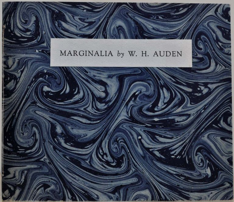 MARGINALIA. Limited edition signed by W.H. Auden and Laurence Scott. W. H. Auden.