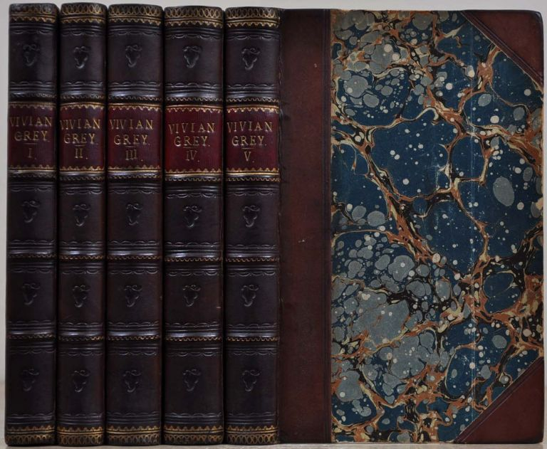 VIVIAN GREY. Five volume set. Benjamin Disraeli.