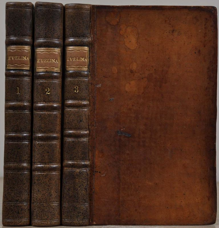 EVELINA, or A Young Lady's Entrance Into the World. In a Series of Letters. Three volume set. Fanny Burney.