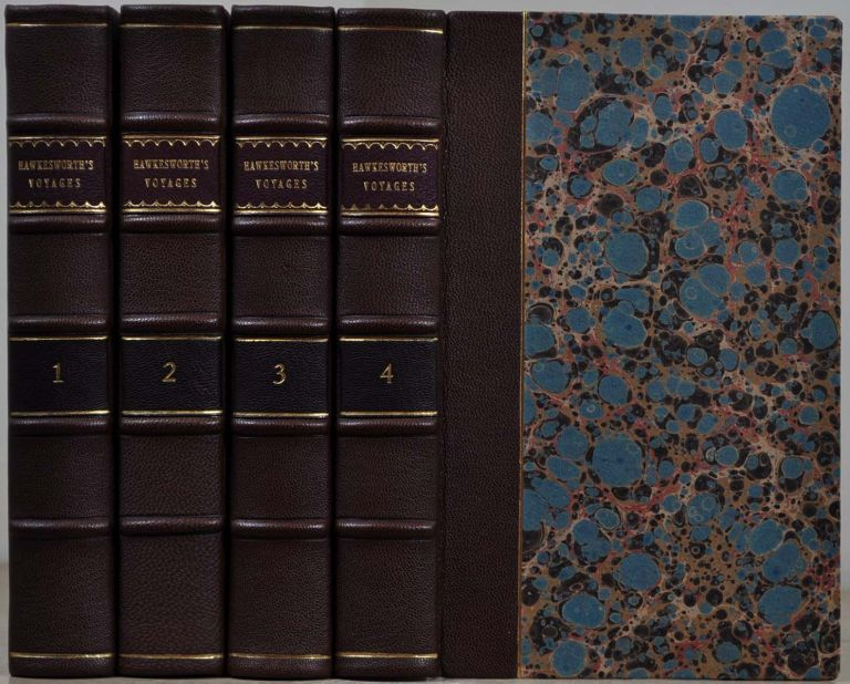 AN ACCOUNT OF THE VOYAGES UNDERTAKEN BY THE ORDER OF HIS PRESENT MAJESTY FOR MAKING DISCOVERIES IN THE SOUTHERN HEMISPHERE. Four volume set. John Hawkesworth.
