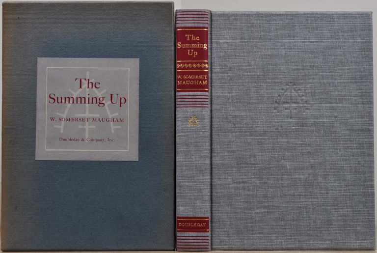 THE SUMMING UP. Limited editon signed by W. Somerset Maugham. W. Somerset Maugham.