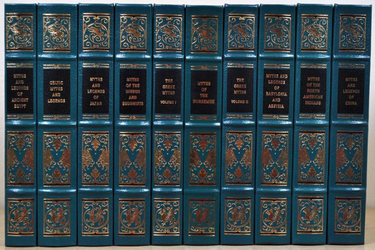 MYTHS AND LEGENDS OF THE ANCIENT WORLD. Ten volume set. Ancient Egypt; Babylonia and Assyria; Celtic; China; Greek (2 vols); Hindus and Buddhists; Japan; Norsemen; North American Indians. Robert Graves, Lewis Spence, F. Hadland Davis, T W. Rolleston, H A. Guerber, E T. C. Werner, Sister Nivedita, Ananda K. Coomaraswamy, Margaret E. Noble.