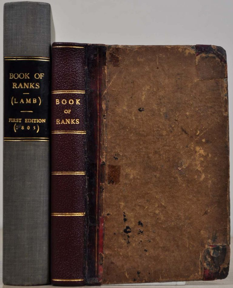 THE BOOK OF THE RANKS AND DIGNITIES OF BRITISH SOCIETY. Charles Lamb.
