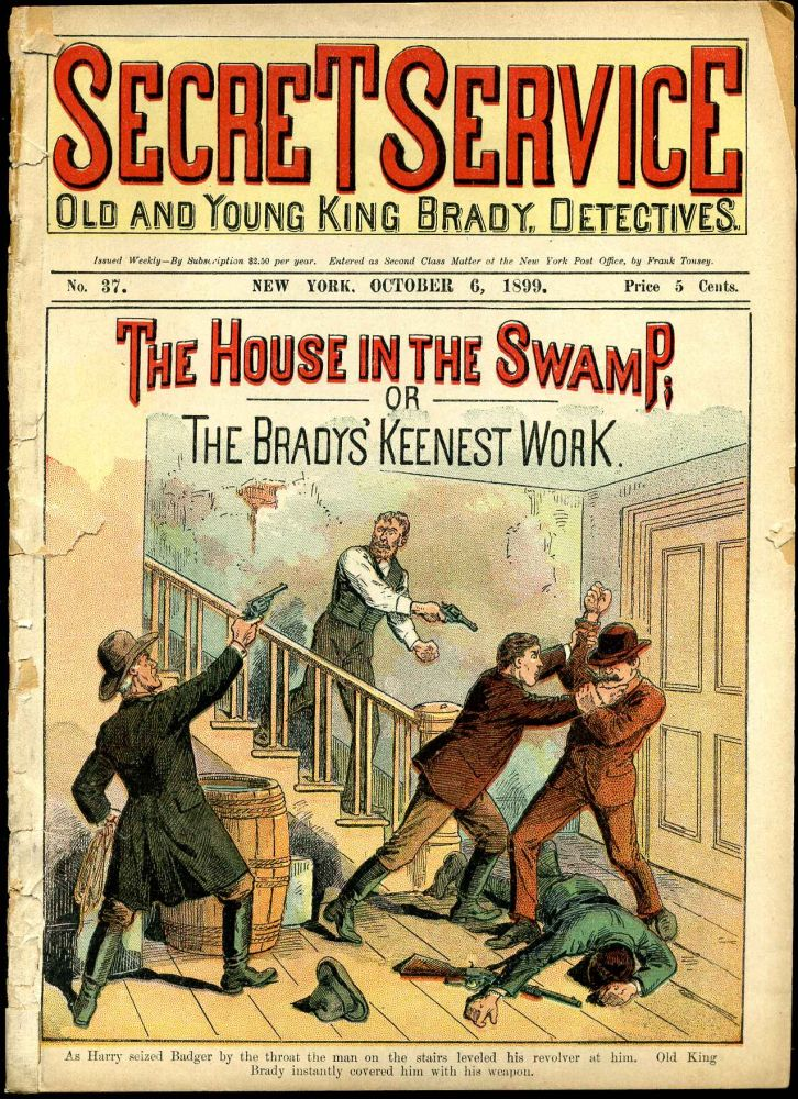 The House In The Swamp; or the Bradys' Keenest Work. New York Detective.