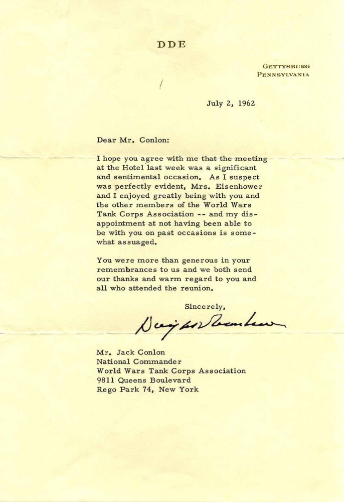 Typed Letter Signed by Dwight D. Eisenhower. Dwight D. Eisenhower.