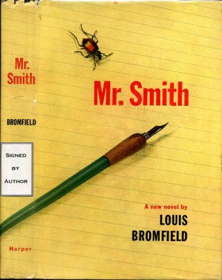 MR. SMITH. Signed by the author. Louis Bromfield