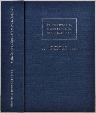 EMERSON. An Annotated Secondary Bibliography. Robert E. Burkholder, Joel Myerson