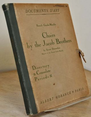 CHAIRS BY THE JACOB BROTHERS. Directory and Consulate Periods. Documents D'Art. French Garde Meuble. Ernest Dumonthier.