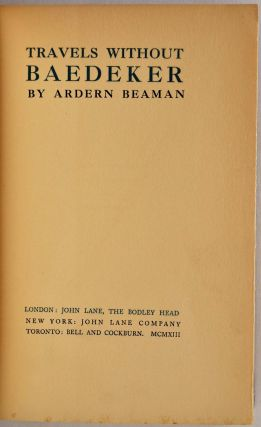 TRAVELS WITHOUT BAEDEKER. Ardern Beaman