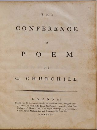 THE CONFERENCE. A Poem. Charles Churchill