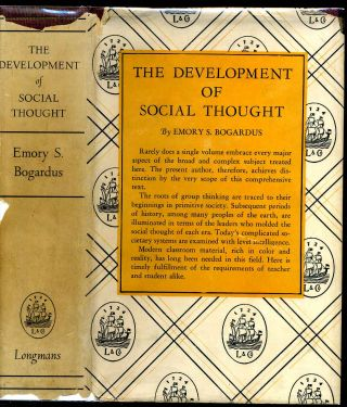 THE DEVELOPMENT OF SOCIAL THOUGHT. Emory S. Bogardus