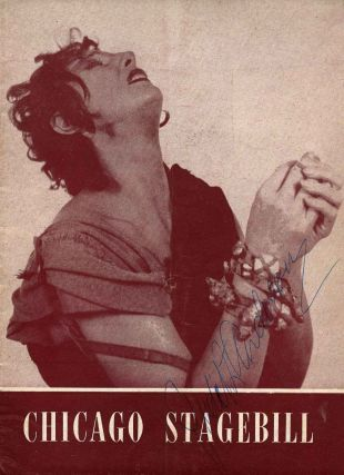 Blackstone Theatre Program for Medea signed by Dame Judith Anderson. Judith Anderson, Dame
