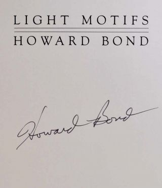 LIGHT MOTIFS. Signed by the photographer.