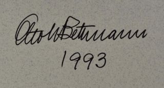 BETTMANN. The Picture Man. Signed by author.