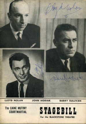 Signed Blackstone Theatre Stagebill (Program); The Caine Mutiny Courtmartial. A Play in Two Acts....