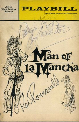 "Signed Anta Washington Theatre Stagebill (Program); ""Man of La Mancha"" by Dale Wasserman. Richard..."