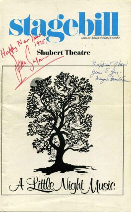 "Shubert Theatre Stagebill (Program); ""A Little Night Music."" Signed by Jean Simmons and Margaret..."