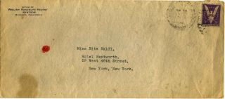 Typed letter signed by William Randolph Hearst.