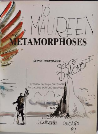 METAMORPHOSES. With a two-page watercolor/goache illustration and signed by Serge Diakonoff.