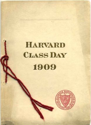 HARVARD CLASS DAY 1909. Harvard University