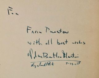 BUTCHER'S DOZEN and Other Murders. Signed and inscribed by John Bartlow Martin.