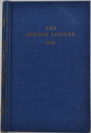 THE TEACHING OF READING: An International View. The Burton Lecture 1956. William S. Gray