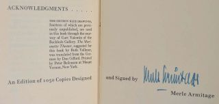 FIVE ESSAYS ON KLEE. Signed by Merle Armitage.