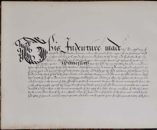 Indenture Respecting Shakespeare's Property in the Blackfriars 1612-13.