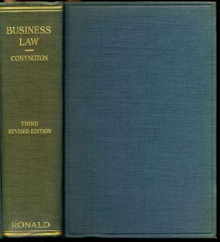 BUSINESS LAW. Third edition. Thomas Conyngton
