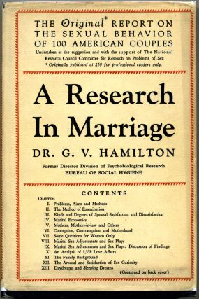 A RESEARCH IN MARRIAGE. G. V. Hamilton