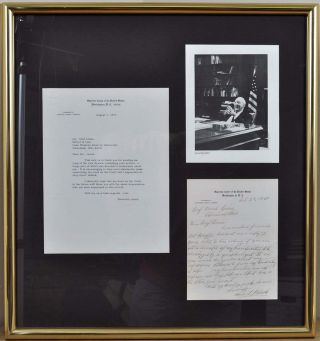 LETTER HANDWRITTEN AND SIGNED BY SUPREME COURT JUSTICE HUGO L. BLACK.