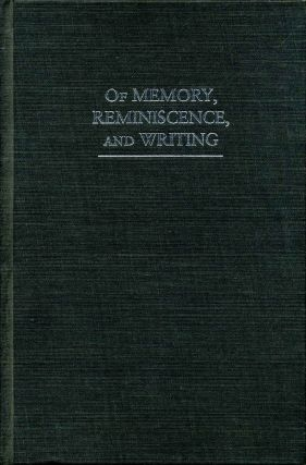 Of Memory, Reminiscence, and Writing: On the Verge. David Farrell Krell