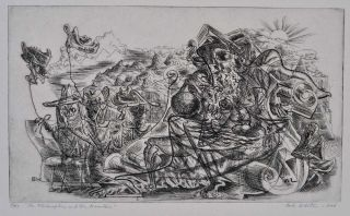 FOLIO NUMBER ONE. Images out of Exile. Contains etchings signed by Bob White. [Robert Winthrop White (1921-2002)].