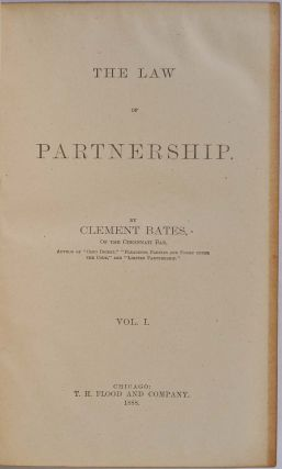 THE LAW OF PARTNERSHIP. Two volume set.
