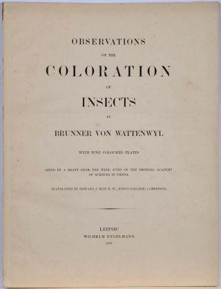 OBSERVATIONS ON THE COLORATION OF INSECTS.